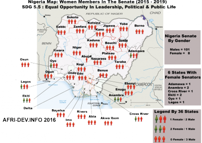 Nigeria Map Women In Senate